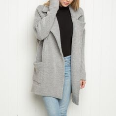 BRANDY MELVILLE KENNEDY COAT Bought from another seller. I never wore it but the previous seller wore it a couple of times. It's super soft and cute but I'm short so it doesn't look good on me. CHEAPER ON Ⓜ️ERCARI APP IF YOU USE THE CODE QZCTQN FOR $2 OFF! Brandy Melville Jackets & Coats