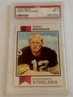 1973 Terry Bradshaw Topps #15 PSA Graded 7 NM Football Card by Topps. $39.99. PSA Graded 7 NM. Great 3rd year card from this Steeler great. Includes First Class Shipping Upgrade.