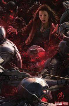 """Scarlet Witch, from the official """"Avengers: Age of Ultron"""" San Diego Comic Con poster"""