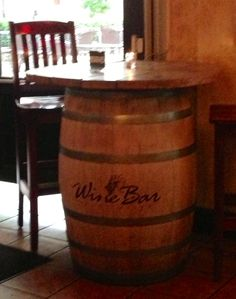 Wine Bar ~ Rocky River. Whiskey barrels can't be reused so they are often resold