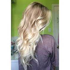 Blonde balayage highlight with base break