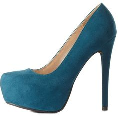 Charlotte Russe Teal Green Almond Toe Platform Pumps by Charlotte... (€19) ❤ liked on Polyvore featuring shoes, pumps, heels, teal green, platform shoes, heels stilettos, platform stilettos, almond toe pumps and teal pumps