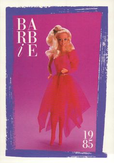 "Barbie Collectible Fashion Card "" Dancer "" 1985 