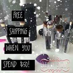 Let it Snow Makeup!! Did you hear?? A $50 order gets FREE shipping! That's something to be Jolly about!!! Happy Black Friday without the crowds!