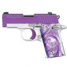 DescriptionP238 Purple Passion features: • Stainless steel slide coated in Purple Cerakote™ • Alloy frame with Arctic Frost finish • Polished controls with Purple trigger • Purple Pear