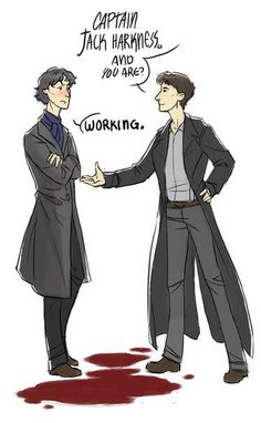 I like to imagine that that's *Jack's* blood and Sherlock is trying to figure out why the heck a dead man just got up.