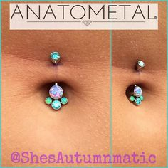 Fresh navel from today, sporting one of my favorite #Anatometal pieces from our jewelry display!