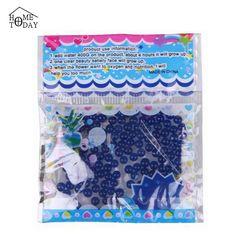 Decoração azul 125 pçs/saco 2 mm - 2.5 mm pérola em forma de cristal do solo crescer hidrogel contas de água sacos de geléia bolas alishoppbrasil