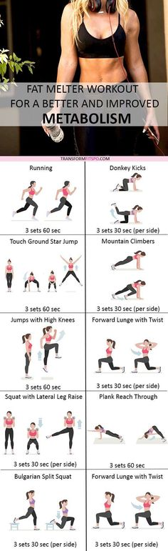 Did this workout turbocharge your metabolism? Read the post for all the workout descriptions!