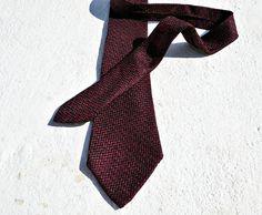 Hermès tie deep red tie slim retro tie wine colour tie vintage hermes tie collectible tie