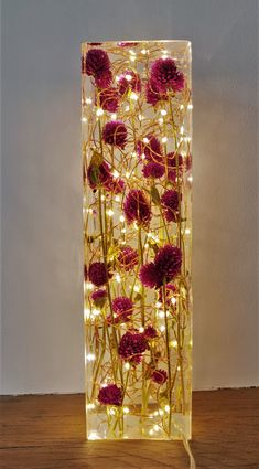 Red Clover and resin light sculpture Diy Resin Lamp, Diy Resin Crafts, Diy Crafts To Sell, Stick Crafts, Leaf Structure, Epoxy Resin Wood, Flower Lamp, Resin Furniture, How To Preserve Flowers