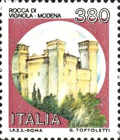 1987 - Castelli d'Italia - Rocca di Vignola a Modena. Interesting Buildings, You Are The World, Postage Stamps, Ephemera, 1990, Poster, Gallery, Castles, Artist