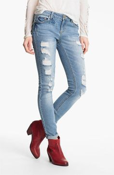 Fire Destroyed Skinny Jeans (Juniors)   $32.16