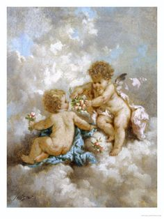Cherubs Making Posies. More