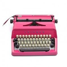 Pink typewriter by Triumph Pink Home Decor, Retro Home Decor, Working Typewriter For Sale, Pink Christmas Tree, Christmas Gifts, 1950s Decor, Antique Typewriter, Vintage Office, Vintage Typewriters
