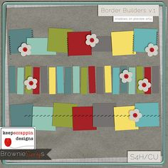 Border Builders v.1 by keepscrappin designs $1.50