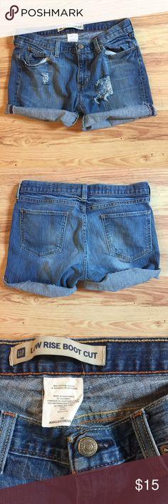 Distressed jean shorts cutoff. GAP low rise Distressed jean shorts cutoff. GAP low rise GAP Shorts Jean Shorts