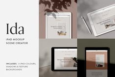 Neat Product Mockups #Graphics Ida - iPad Mockup Scene Creator—Showcase website designs in a beautiful and authentic setting with Ida, a minimalist inspired iPad m... #itsmesimon #product #productdesign #productphotography #psd #mockup #mockupdesign #mockuppsd #graphic #graphicdesign #mockupset #photography #photoshop #photoshopactions #templates #templatedesign