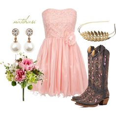 Country bridesmaid dress