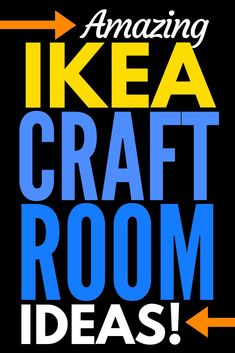 INSIDE the BEST IKEA Craft Rooms with a FREE Ikea shopping list! SMART ideas for organizing craft supplies in craft rooms, sewing rooms, scrapbook rooms . Craft Room Design, Craft Space, Space Crafts, Sewing Room Storage, Sewing Rooms, Craft Storage, Ikea Craft Room, Craft Rooms, Diy Arts And Crafts