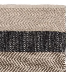Give your décor a lift with the Alto rug. Displaying a smart stripe design in varying thicknesses, the Alto uses a combination of a two-toned chevron pattern and a classic twill weave to give the rug interest, and its colour depth. The beige and light brown hues are given a bold contrast with the charcoal stripes, and will bring a little life to drab rooms. Handwoven in India according to Care & Fair certifications, the Alto collection is made with a 100% wool warp and weft for an incred...