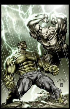 Hulk VS Abomination, color by Gabriel Cassata, Pencils by Ed Benes Inks by JP Mayer Hulk Marvel, Hulk Comic, Marvel Villains, Marvel Comics Art, Marvel Heroes, Comic Art, Superman Hulk, Hulk Hulk, Comic Book Characters