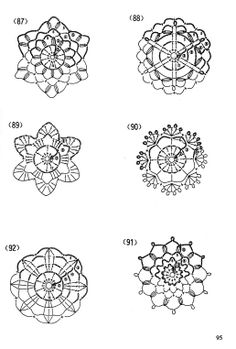Doily diagrams; they look like snowflakes  :-)  #crochet #motif