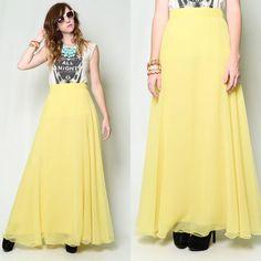 Dreamy yellow maxi skirt