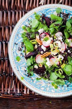 Hemsley And Hemsley Beetroot Black Quinoa Salad (Vogue.com UK)