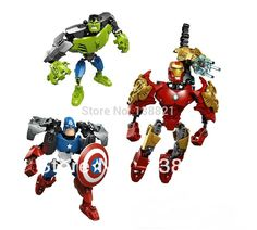 Educational Toys for children blocks building  Iron Man, Hulk, Captain America fight inserted toys Compatible with Lego #Affiliate