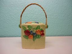 Gorgeous ceramic canister decorated with by SouvenirAndSalvage