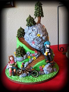Mountain Biking In The Sierra's  on Cake Central                                                                                                                                                      More