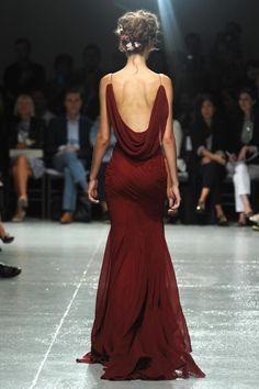 Zac Posen, spring 2014 #fashion #red