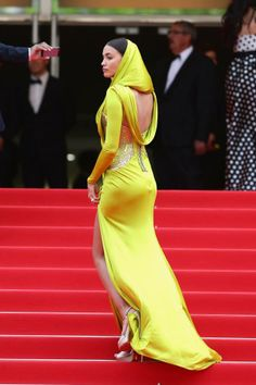 """Irina Shayk looking amazing in a look from Atelier Versace Spring 2014 at the premiere of """"The Search"""" at the 67th Annual Cannes Film Festival! #VersaceCelebrities #AtelierVersace #Versace"""