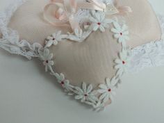 Valentines Day Heart Sachet / Unscented / Pink Satin by lynnedowns, $5.00