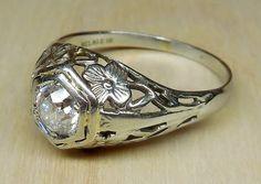 Vintage Antique .65ct Old European Cut Diamond by DiamondAddiction