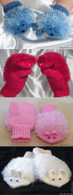 Baby Knitting Patterns Mitten MISS. Knitting with needles for children Crochet Baby Mittens, Crochet Gloves, Knit Mittens, Crochet Slippers, Baby Knitting Patterns, Loom Knitting, Free Knitting, Crochet Patterns, Bracelet Crochet