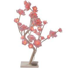Pink roses LED light decoration