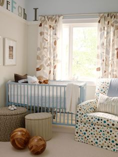 Baby Boy Nurseries.  I like the letters at the top, maybe include ambient lighting up there?  Like the soft colors