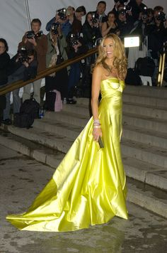 Vogue Daily — Elle Macpherson in Calvin Klein Collection (Best Met Gala Gowns of All Time pics)