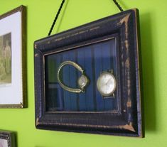 Heirloom Shadowbox with an old watch