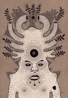 g r o w Art Print by Cosmic Nuggets | Society6  This artist!