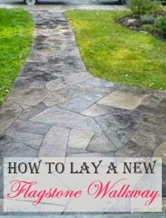 Your front walkway should grab attention and catch the eye as it leads to Flagstone walkway with edge detail   Sparks  Landscape Concepts  . Flagstone Sidewalk Pictures. Home Design Ideas