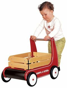 Radio Flyer Walking Wagon is built to the size of toddler learning to walk. Radio Flyer Wagon has a handlebar to keep the walker wagon steady as the child learns to walk. Toddler Toys, Baby Toys, Toy Wagon, Radio Flyer Wagons, 1st Birthday Gifts, Birthday Ideas, Birthday List, Push Toys, Toys For 1 Year Old