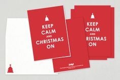 Keep Calm Christmas Greeting Card Template from Inkd