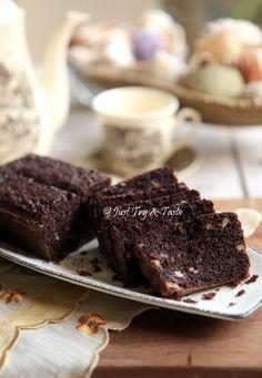 Just Try & Taste: Resep Brownies Pisang Super Duper Moist Banana Recipes Easy, Easy Cake Recipes, Brownie Recipes, Dessert Recipes, Cupcake Recipes, Banana Brownies, Brownies Kukus, Resepi Brownies, Resep Cake