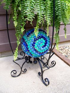 Under A Pile of Scrap!: Mosaic Gazing Ball - or is it?