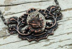 Steampunk Necklace Steampunk Jewelry by VictorianCuriosities, $40.00