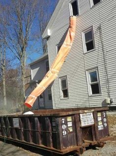 How to properly remove construction waste from your construction site. How to manage and remove your construction debris, with a construction trash chute.