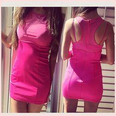 BeBe pink dress  Like a new one. Wear only twice. bebe Dresses Mini